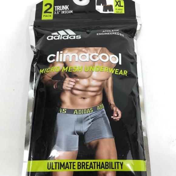 Adidas climacool mens 2 pack trunk underwear XL